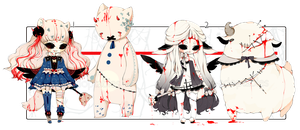 [CLOSED] ADOPT AUCTION 190 - Evil Plushies Charmer by Piffi-adoptables