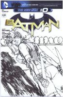 Harley Quinn Sketch cover2 BW by Danielleister