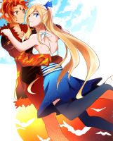 Flame Prince x Fionna : Design Prac by AnimeandCartoonFan