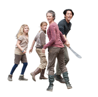 Mika e Lizzie , Carol e Glenn the walking dead ren by twdmeuvicio