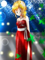 DBZ Inebriated AU Chai Prom Homecoming dress by artycomicfangirl