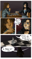 Playing chess by Princess-Hazel