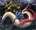 Sea VS Thunder by Sapphiresenthiss