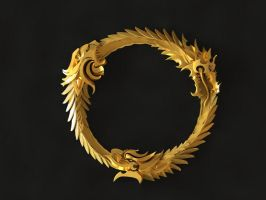 The Elder  Scrolls Online Logo Gold by Worldofjewelcraft