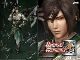 DW8 Wallpaper - Jiang Wei by Koei-Warrior