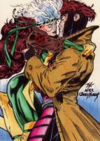 Gambit and Rogue Kubert Homage by Ethrendil