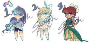 Adoptable Girls - Point Auction - CLOSED by RainyDop