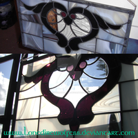 Winged Heart stained glass by LoneDireWolfess