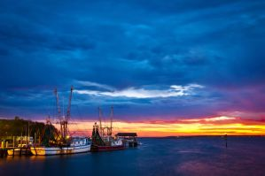 Docked at Shem Creek 3 by Carise