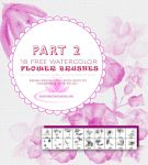 18 Watercolor Floral Brushes for Photoshop-Part 2 by fiftyfivepixels