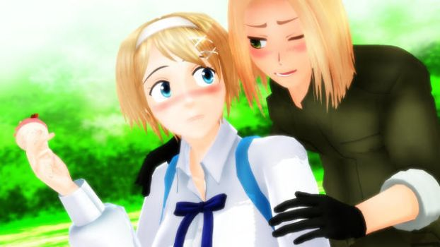 MMD Poland And Ukraine ' Guess Who~?' by JaimyTime