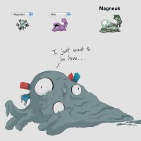 PokeFusion :: Magneuk by Space-Jacket