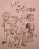 Left 4 Dead 2: The Cast by Inamkur