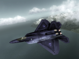 H.A.W.X F-22 Ghost Recon skin by Roflbot