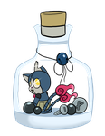 Kitty bottle :Robonyan: by Luckynight48