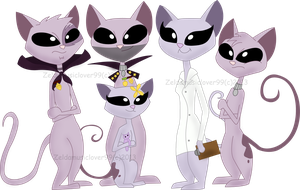 Mr. kat Family by Zeldamusiclover99