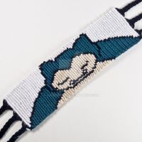 Snorlax 1.5 inch Friendship Bracelet by CarrieBea
