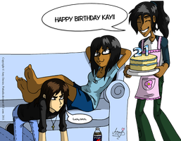Happy B-Day babes XD by Pinkaila