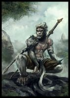 Hanuman the monkey king by wasurah