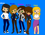 My Orginal Characters and Me by The-Embear-Yay
