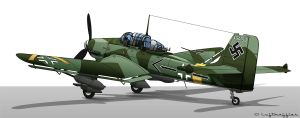 Ju-87 G-2 by Luftwaffles