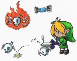 Chibi Link - Battle by FrostDragonVacu