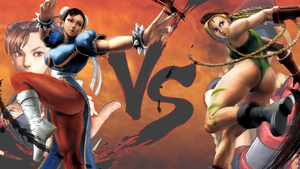 Chun-Li VS Cammy by hes6789