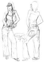 Fashion sketch: HipHopGrl by rum-inspector