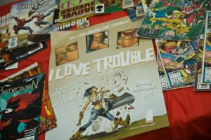 I LOVE TROUBLE ART SHOW ( PHILLY) by ALIENTECHNOLOGY2MARS