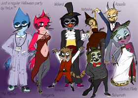 Regular Show Halloween Party by yinlin1994