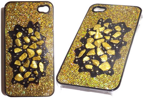 All your Gold handmade iPhone 4 case by luc1d-dream