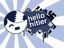 Hello Hitler Blue by LAYZJAY