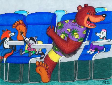 Tickle Airlines by WalterRingtail