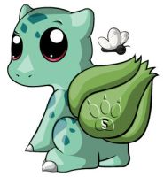 Bulbasaur Chibi by RedPawDesigns