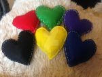 heart plushies by loxanna