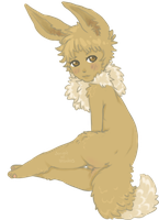 Fluffy Butt Eevee by sexiestofoffenders