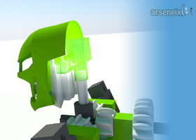 Bionicle Walking Cycle 3D  Animation by XLordAndyX