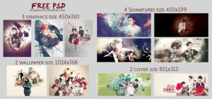 [Share PSD ] Happy 1 Month With DA by selubaekyeol