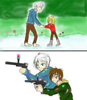 Request JackAndSofieSkateAndJackAndJamiePaintball by animecake55