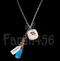 Alice in Wonderland drink me eat me necklace by crafting-Farah