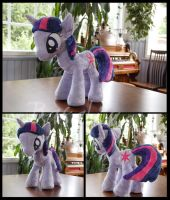 MLP: FiM Twilight Sparkle plushie by Rasaliina