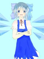 Cirno the Ice Fairy by gybnxi
