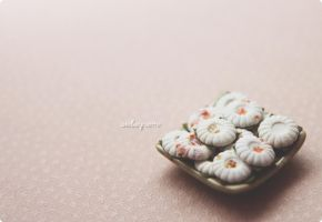Miniature kueh tutu. by Aiclay