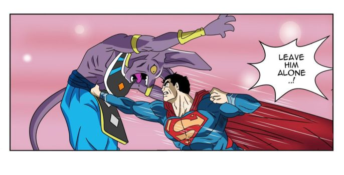 Special: Beerus vs Superman! by Einstein001