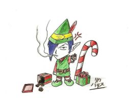 Sword Hunter Christmas Chibi by KaizokuShojo