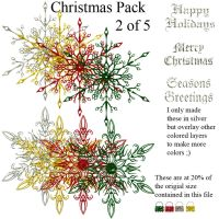 Christmas pack 2 of 5 - Stars by Hermit-stock