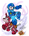 SSB: Newcomer - The Blue Bomber by saiiko