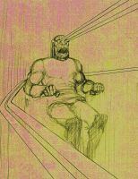 Darkseid after Francis Bacon by Nick-Perks