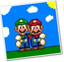 Mario and Luigi polaroid by dylrocks95