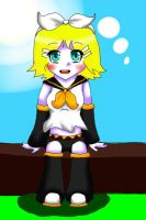 Rin Sitting Yay by Purpl3Surreal